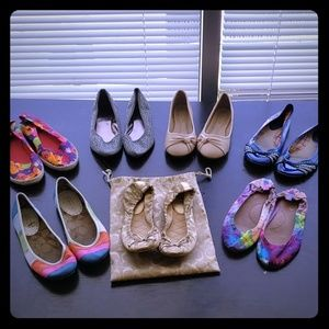 Women's Coach and assorted flats bundle of 7